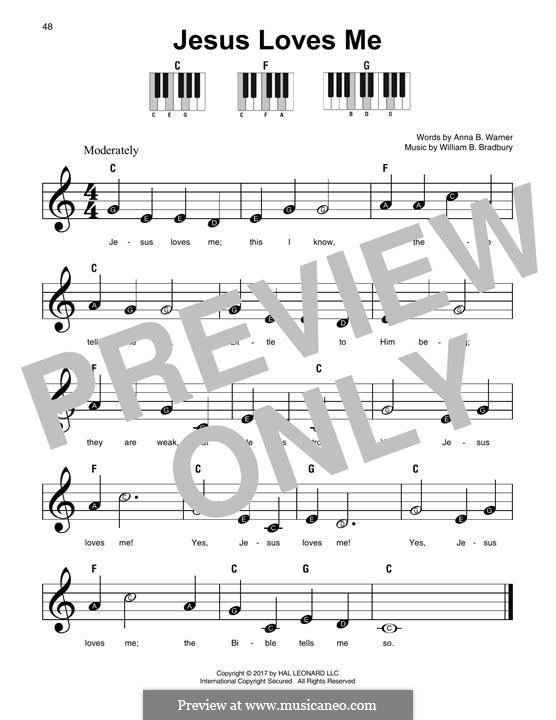 Jesus Loves Me: For any instrument by William Batchelder Bradbury