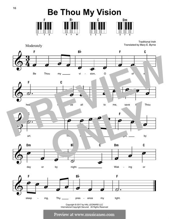 Be Thou My Vision (Printable scores): For any instrument by folklore
