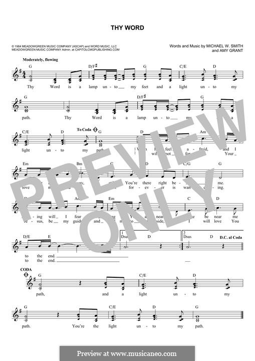 Thy Word: Melody line by Amy Grant, Michael W. Smith