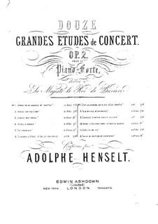 Douze études caractéristiques, Op.2: Etude No.2 'If I Were a Bird' by Adolf von Henselt