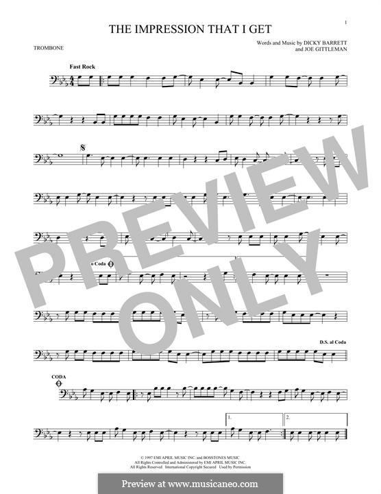 The Impression That I Get (The Mighty Mighty Bosstones): For trombone by Dicky Barrett, Joe Gittleman