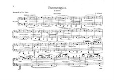 Passacaglia and Fugue in C Minor, BWV 582: Arrangement for piano four hands – parts by Johann Sebastian Bach