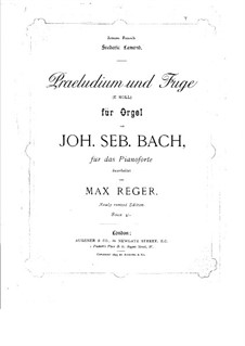 Prelude and Fugue No.3 in E Minor, BWV 533: Arrangement for piano by Johann Sebastian Bach