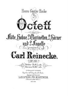 Woodwind Octet in B Flat Major, Op.216: Full score by Carl Reinecke