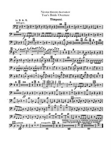The Tsar's Bride: Overture – timpani part by Nikolai Rimsky-Korsakov