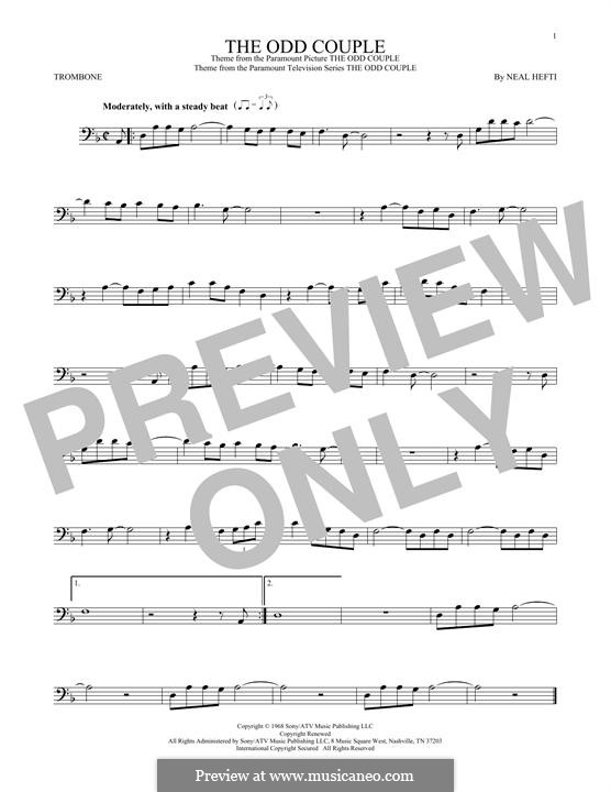 Theme from The Odd Couple: For trombone by Neal Hefti