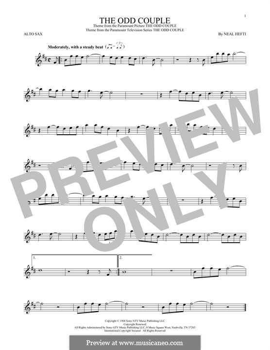 Theme from The Odd Couple: For alto saxophone by Neal Hefti