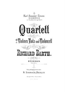 String Quartet in G Minor, Op.15: Violin I part by Richard Barth