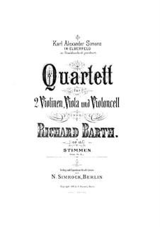 String Quartet in G Minor, Op.15: Viola part by Richard Barth