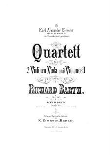 String Quartet in G Minor, Op.15: Cello part by Richard Barth