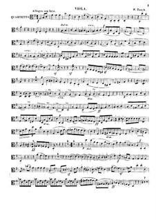String Quartet in G Major: Viola part by Wilhelm Bauck