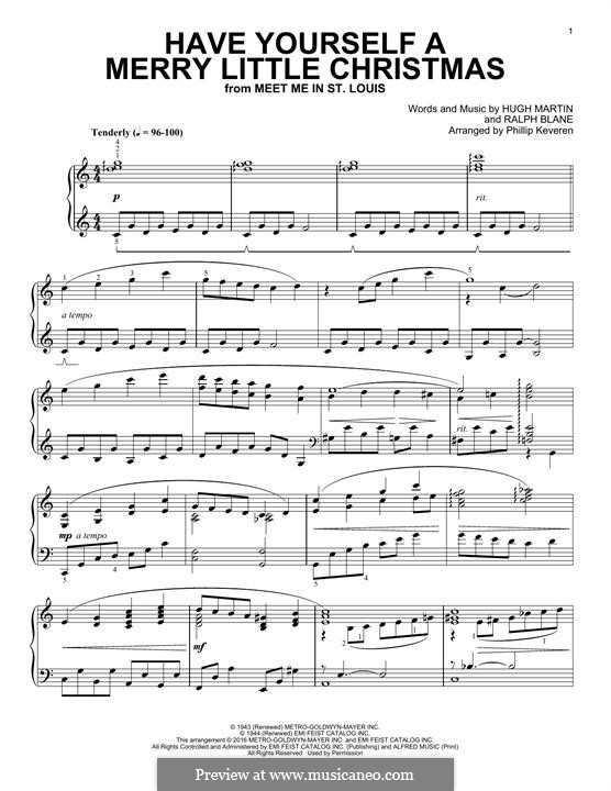 Have Yourself a Merry Little Christmas: For piano by Hugh Martin, Ralph Blane