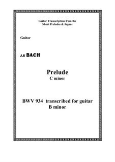 Six Little Preludes, BWV 933-938: No.2, for guitar by Johann Sebastian Bach