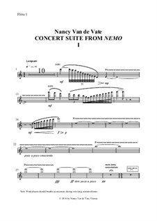 Concert Suite from 'Nemo': Orch. parts by Nancy Van de Vate