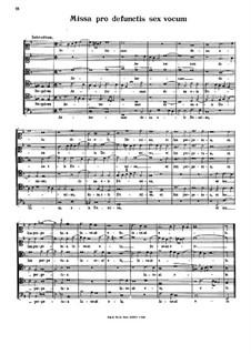 Missa pro defunctis: Missa pro defunctis by Steffano Bernardi