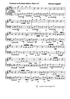 Notturnos, Op.6: Notturno No.4 in Fa Diesis Minore by Marzia Gaggioli