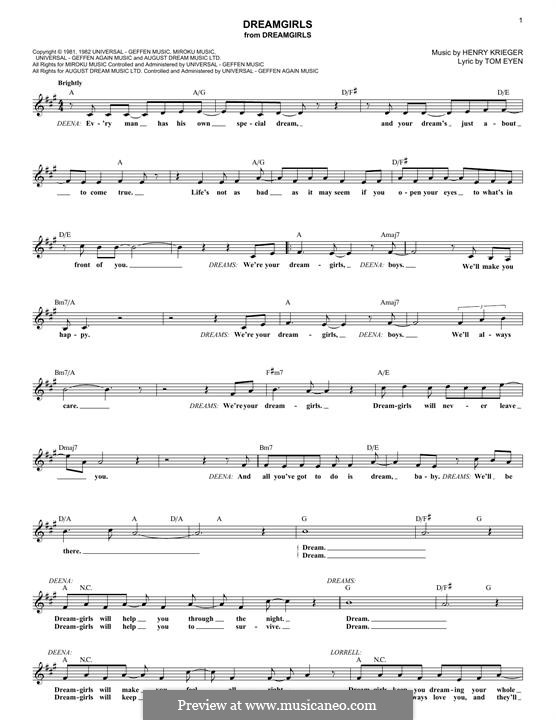 Dreamgirls: Lyrics and chords by Henry Krieger
