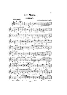 Ave Maria, Op.3: Soprano part by Giuseppe Buonamici