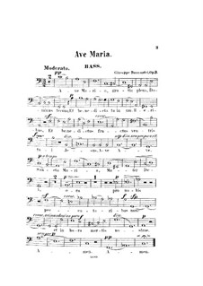 Ave Maria, Op.3: Bass part by Giuseppe Buonamici