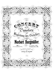 Piano Concerto in F Flat Minor, Op.1: Version for piano by Norbert Burgmüller