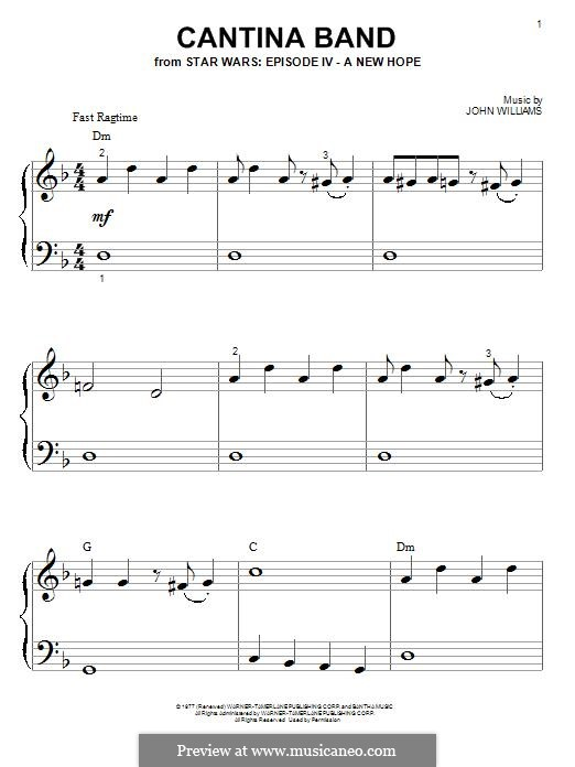 Cantina Band: For piano by John Williams