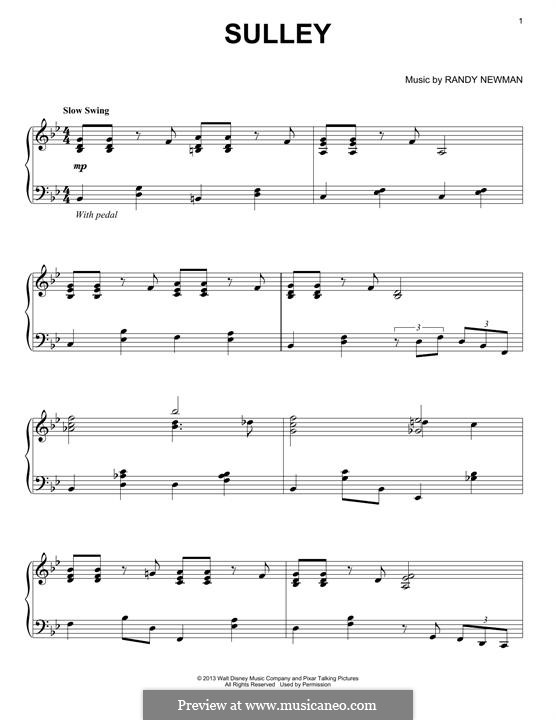 Sulley: For piano by Randy Newman