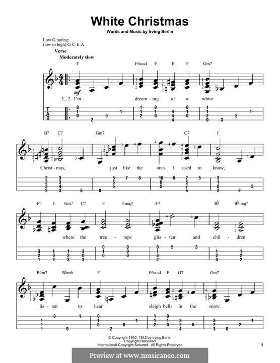 Instrumental version: For ukulele by Irving Berlin