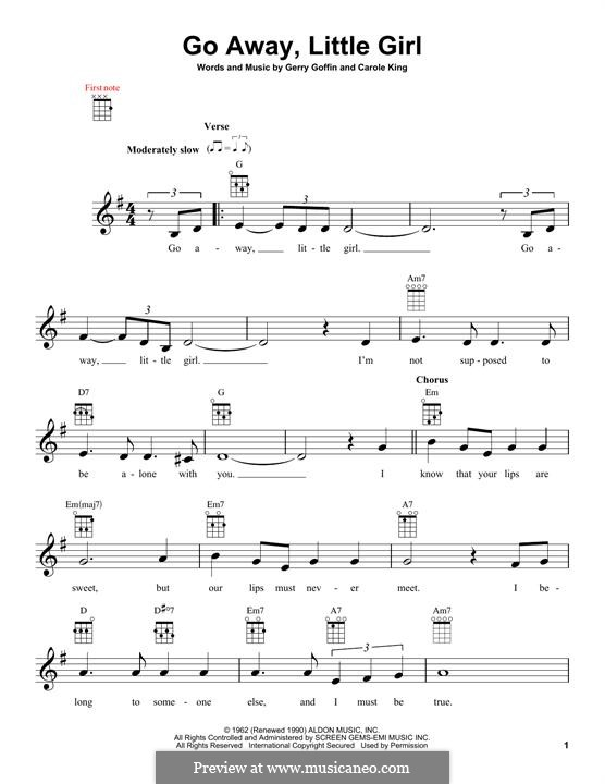 Go Away, Little Girl: For ukulele by Carole King, Gerry Goffin