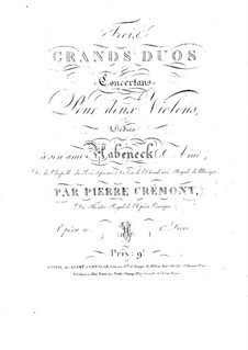 Three Concert Duos for Two Violins, Op.10: Violin II part by Pierre Crémont