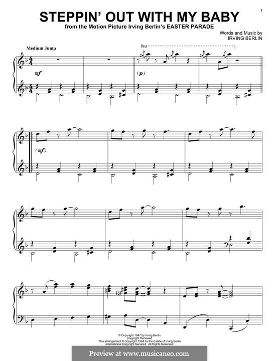 Steppin' Out with My Baby: For piano by Irving Berlin