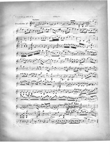 Two Quartets for Piano and Strings, Op.224: Violin part by Carl Czerny