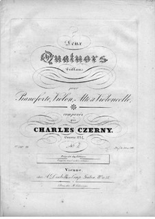 Two Quartets for Piano and Strings, Op.224: Quartet No.2 – piano part by Carl Czerny