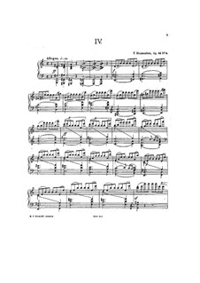 Four Etudes for Piano, Op.44: Etude No.4 in A Major by Felix Blumenfeld