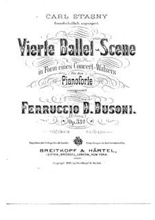 Ballet Scene No.4, BV 238 Op.33a: First version by Ferruccio Busoni