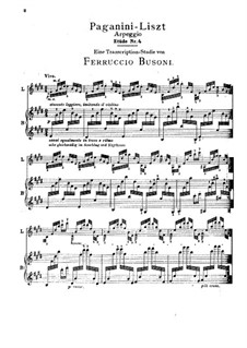 Grand Etudes de Paganini, S.141: No.4 in E Major (Edited by Busoni) by Franz Liszt