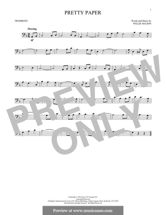 Pretty Paper: For trombone by Willie Nelson