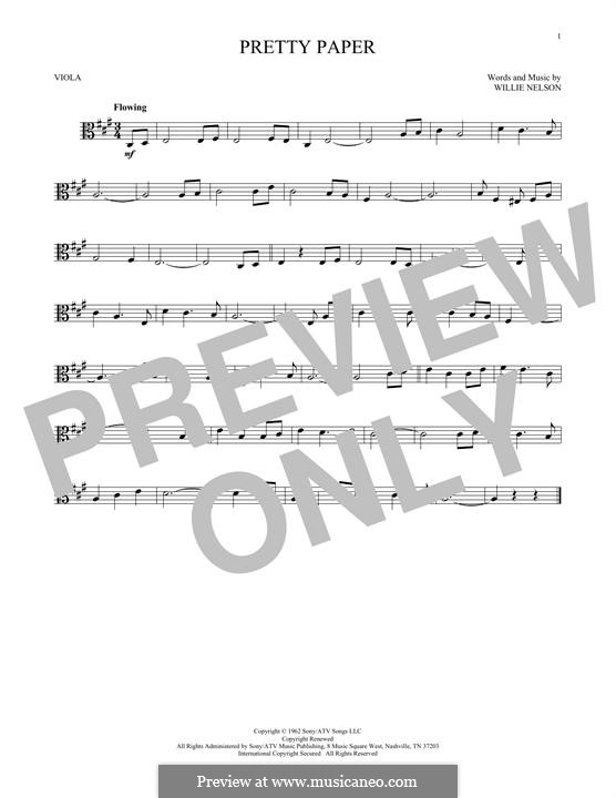 Pretty Paper: For viola by Willie Nelson