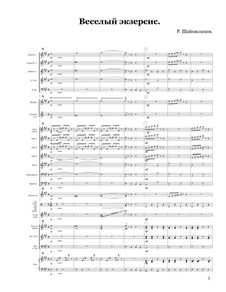 Funny Exercise. The original piece for orchestra of Russian folk instruments: Funny Exercise. The original piece for orchestra of Russian folk instruments by Rustam Shaikhislamov