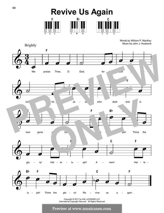 Revive Us Again By Jj Husband Sheet Music On Musicaneo
