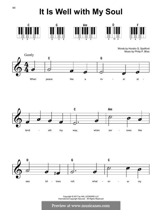 It Is Well with My Soul (Printable scores): For any instrument by Philip Paul Bliss