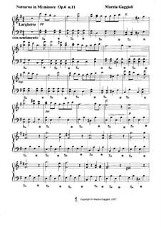 Notturnos, Op.6: Notturno No.11 in Mi Minore by Marzia Gaggioli