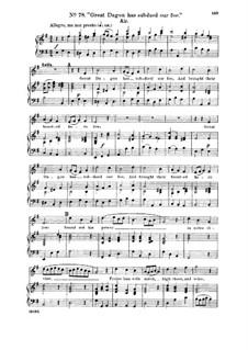 Samson, HWV 57: Great Dagon has subdued our foe. Aria for soprano by Georg Friedrich Händel
