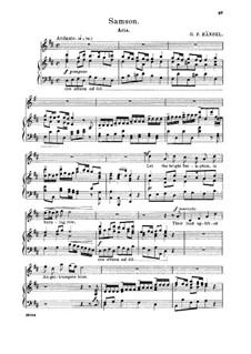 Samson, HWV 57: Let the Bright Seraphim, in burning row. Aria for soprano by Georg Friedrich Händel