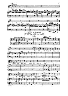 Samson, HWV 57: My faith and truth, O Samson. Aria for soprano by Georg Friedrich Händel