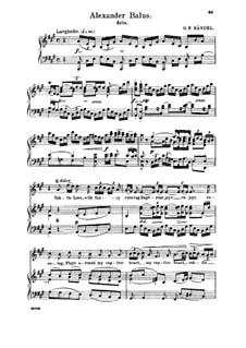 Alexander Balus, HWV 65: Subtle Love, with Fancy Viewing rapt'rous joy. Aria for soprano by Georg Friedrich Händel
