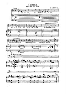 Susanna, HWV 66: When first I saw my lovely maid. Recitative and Aria for alto/countertenor by Georg Friedrich Händel