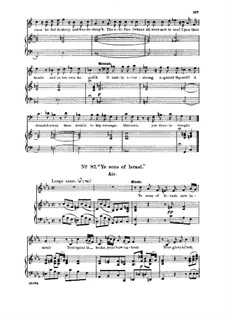 Samson, HWV 57: Ye sons of Israel. Aria for alto/countertenor by Georg Friedrich Händel