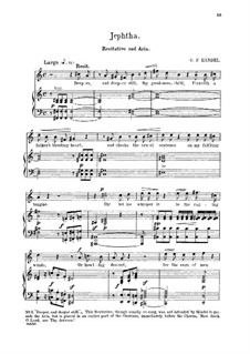 Fragments: Waft her angels into the skies. Recitative and Aria for tenor by Georg Friedrich Händel