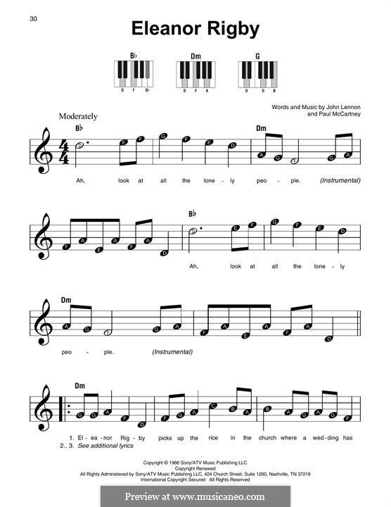 Eleanor Rigby (The Beatles): Melody line by John Lennon, Paul McCartney