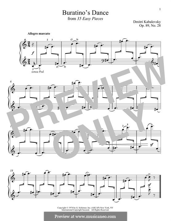 Buratino's Dance: For piano by Dmitri Kabalevsky